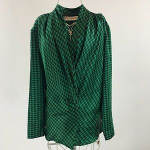 JH Collectables. Black and green top